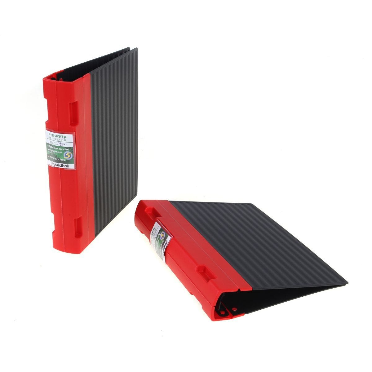Guildhall Ecolite Ergogrip Binder 55mm Spine Red