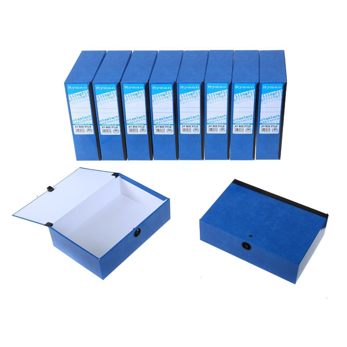 Ryman Select Box File A5 Pack of 10