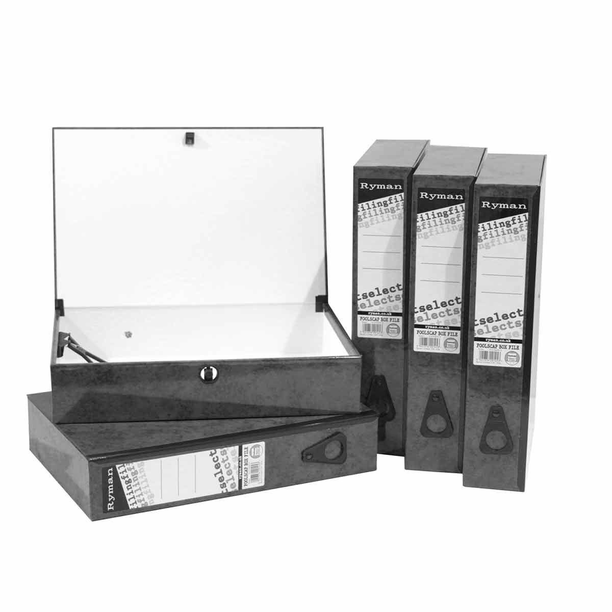 Ryman Select Box File Foolscap Pack of 5