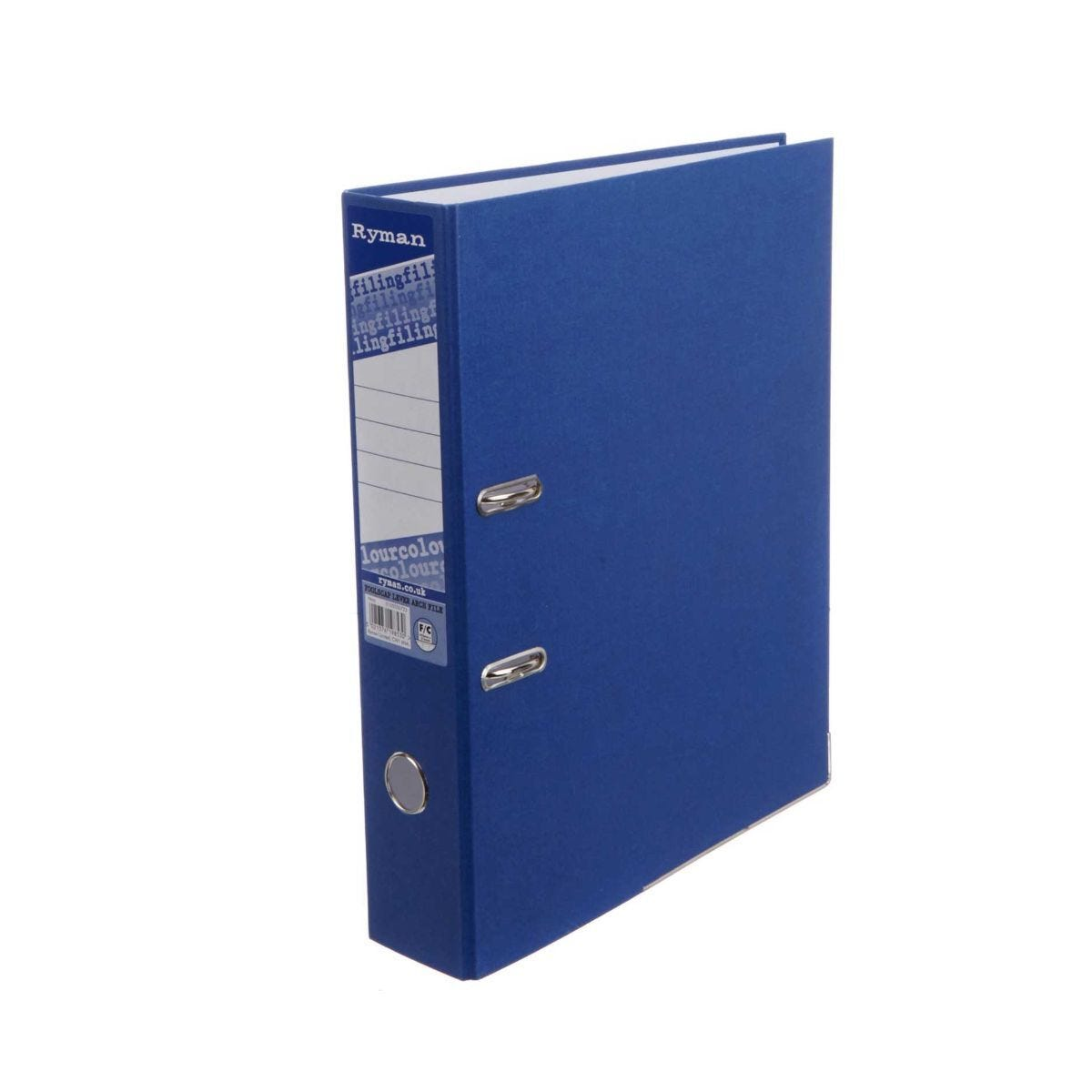 Ryman Colour Lever Arch Files Foolscap Pack of 10 Navy