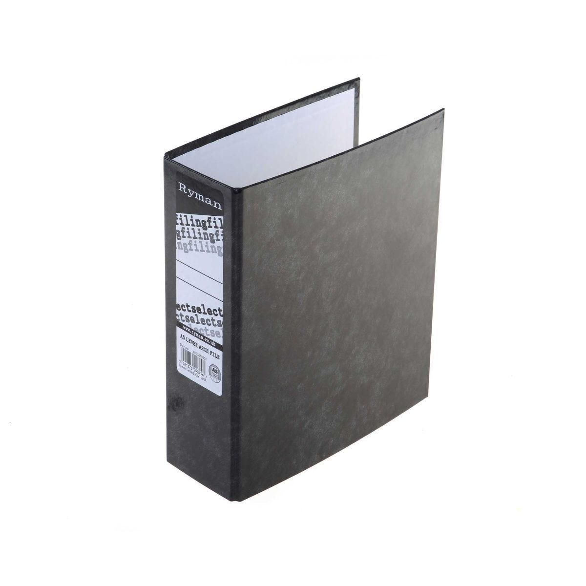 Ryman Select Lever Arch Files A5 Pack of 10 Charcoal