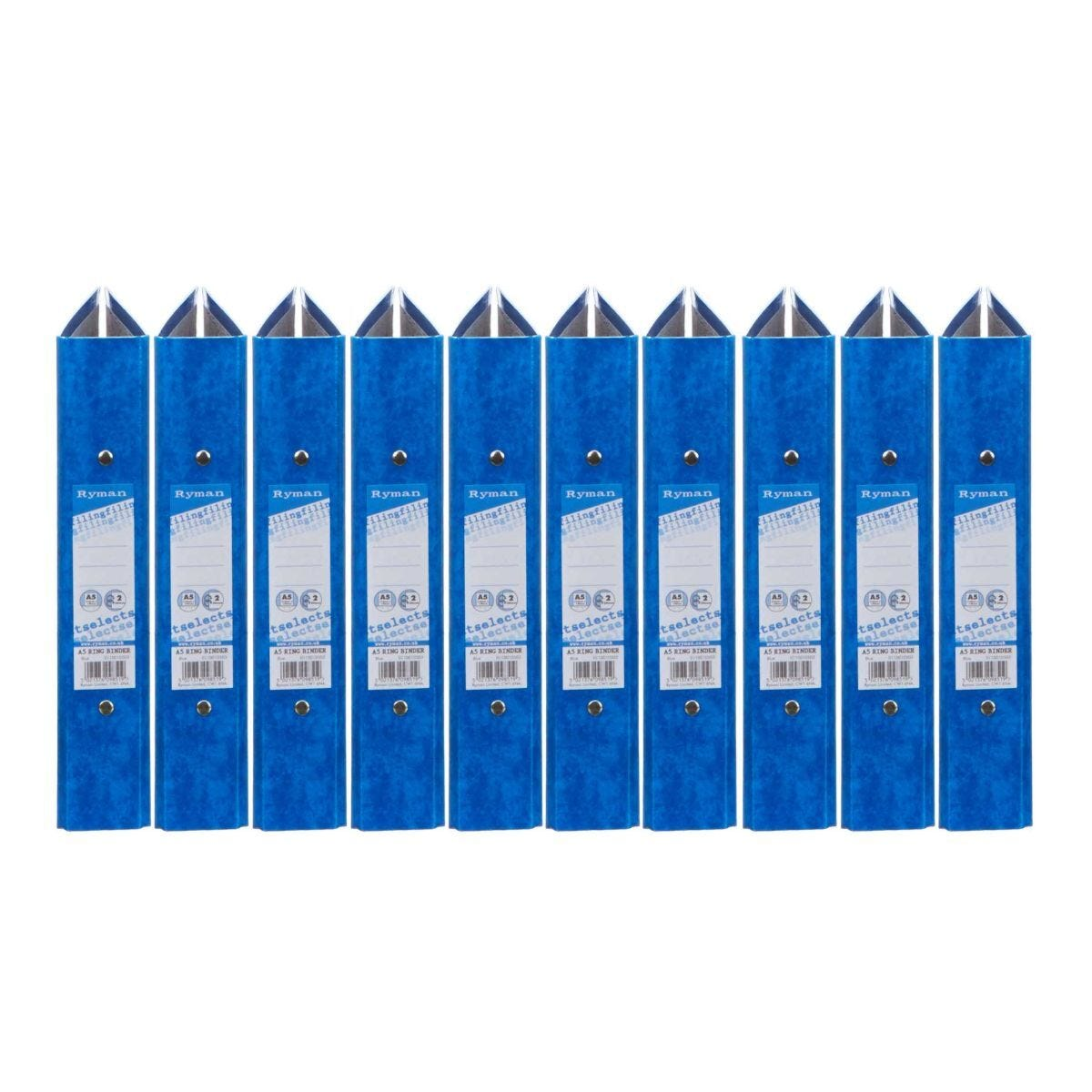 Ryman Select Ringbinder A5 2-O Ring Pack of 10