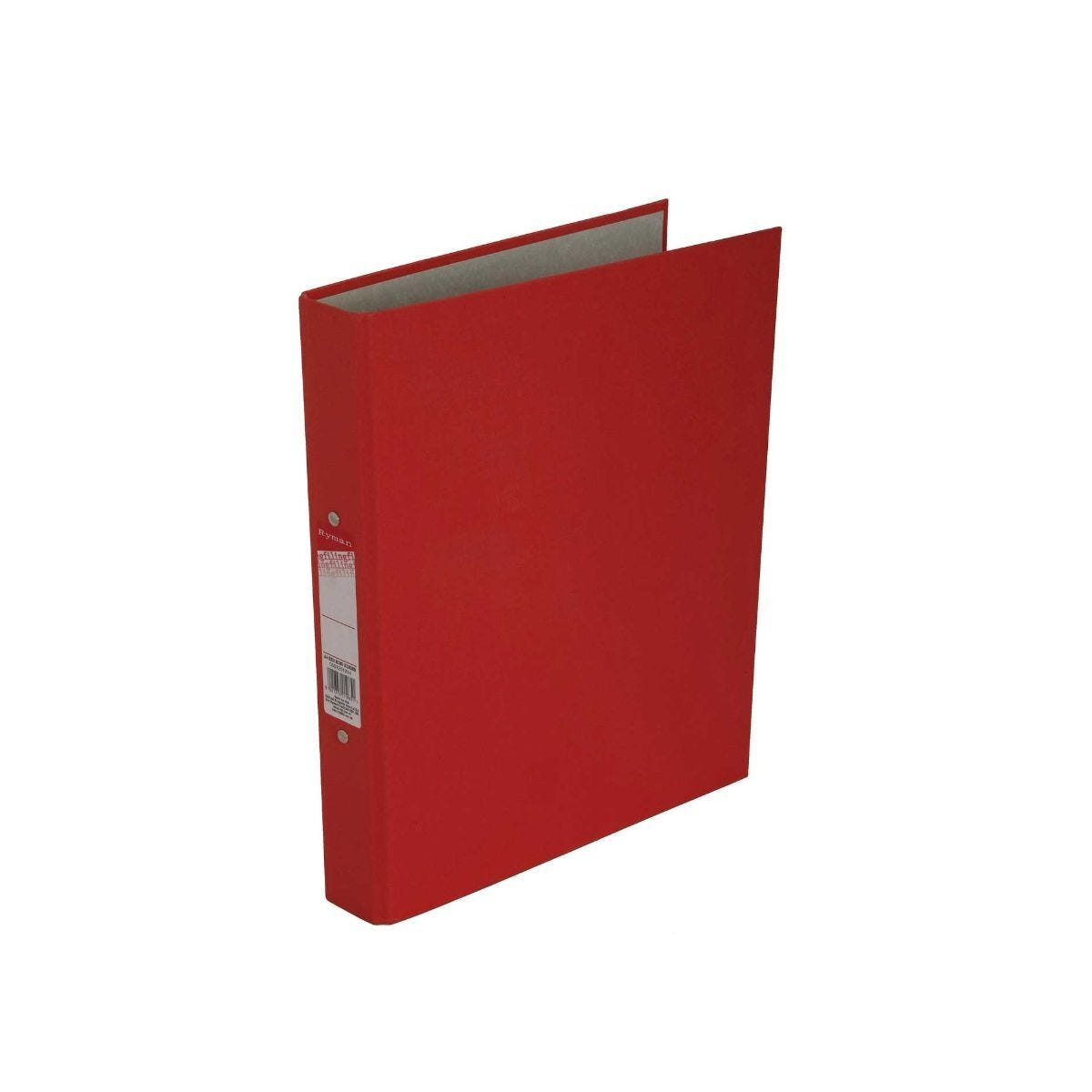 Ryman Colour Ringbinder A4 2-Ring Pack of 10 Red