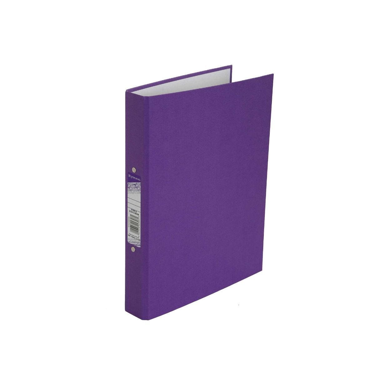 Ryman Colour Ringbinder A4 2-Ring Pack of 10 Purple