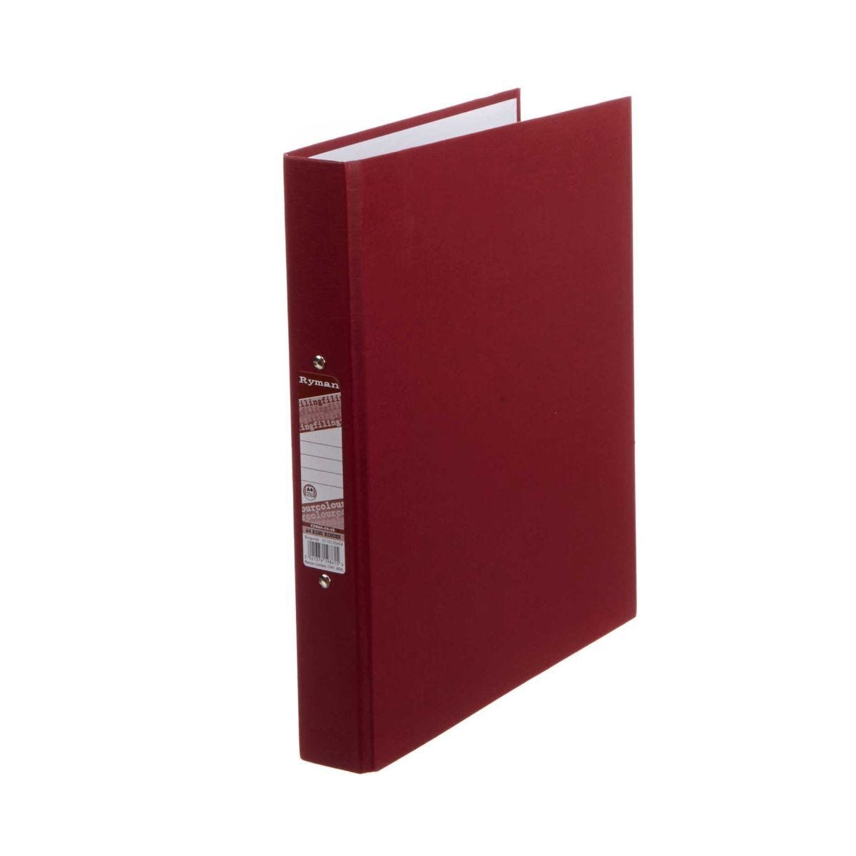 Ryman Colour Ringbinder A4 2-Ring Pack of 10 Burgundy