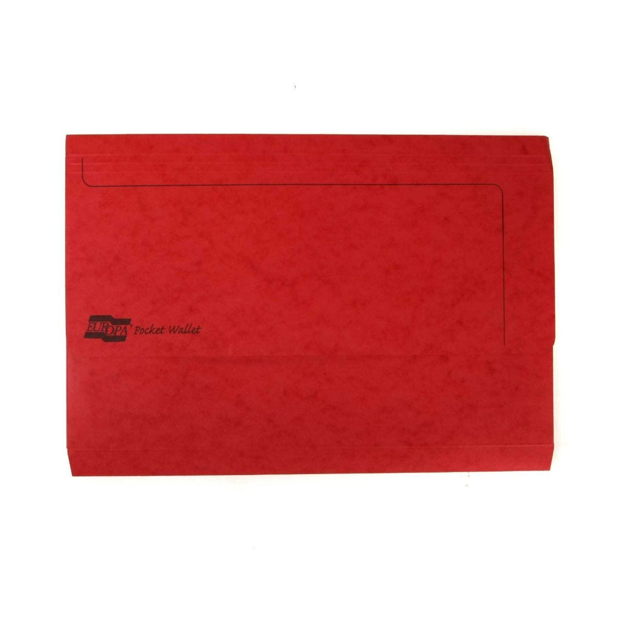 Europa Pocket Wallets Foolscap Pack of 25 Red