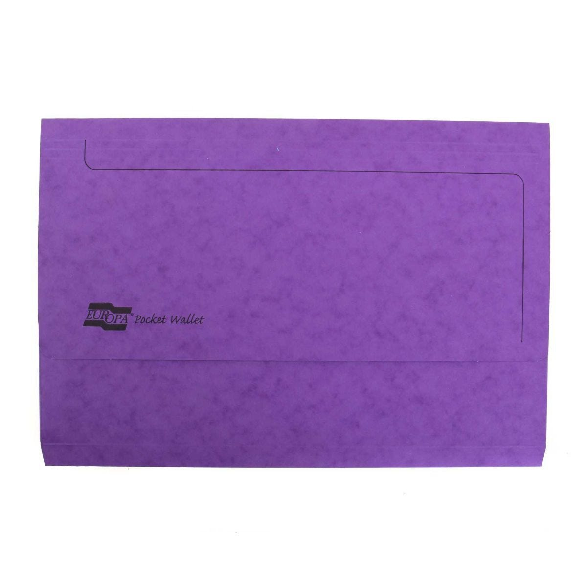 Europa Pocket Wallets Foolscap Pack of 25 Lilac