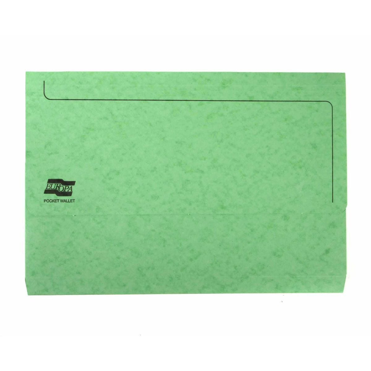 Europa Pocket Wallets Foolscap Pack of 25 Lime