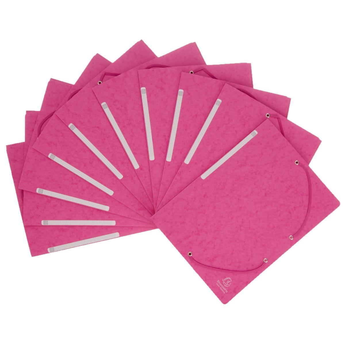 Exacompta Portfolio Folder A4 Elasticated Pack of 10 Pink