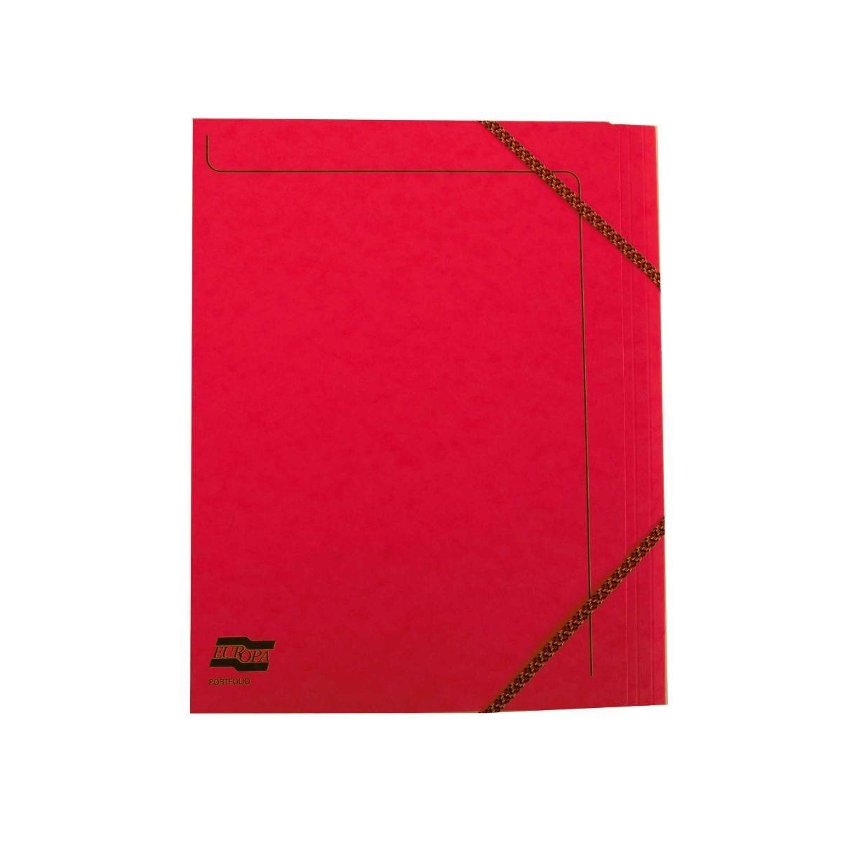Exacompta Portfolio Folder A4 Elasticated Pack of 10 Red