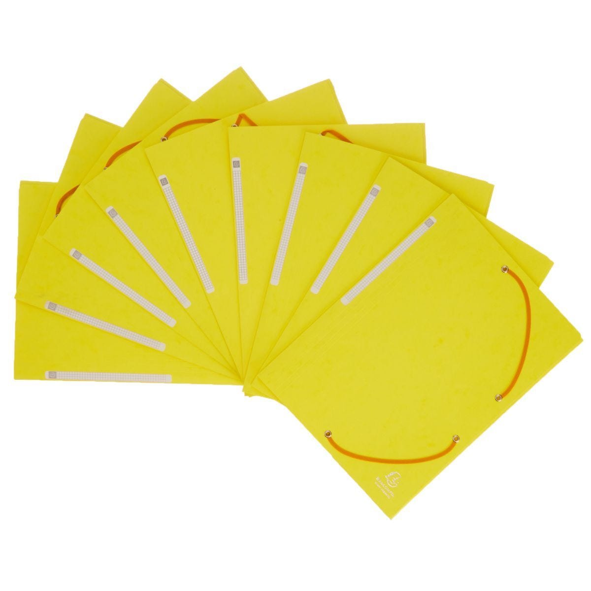 Exacompta Portfolio Folder A4 Elasticated Pack of 10 Lemon