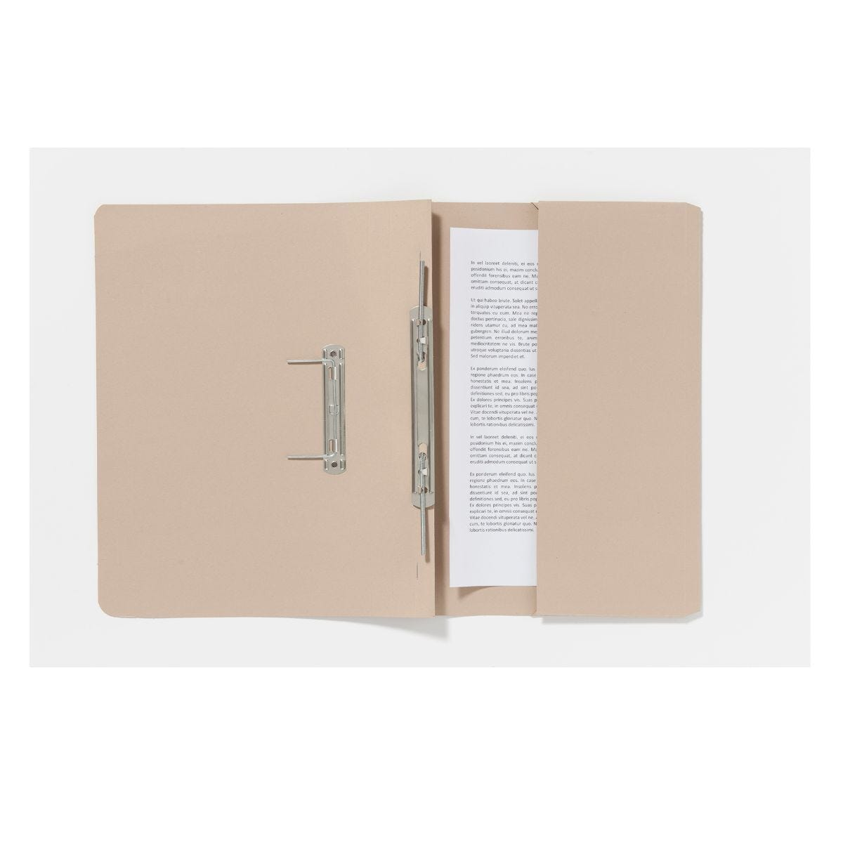 Guildhall Pocket Spiral Foolscap File 285gsm Pack of 25 Buff