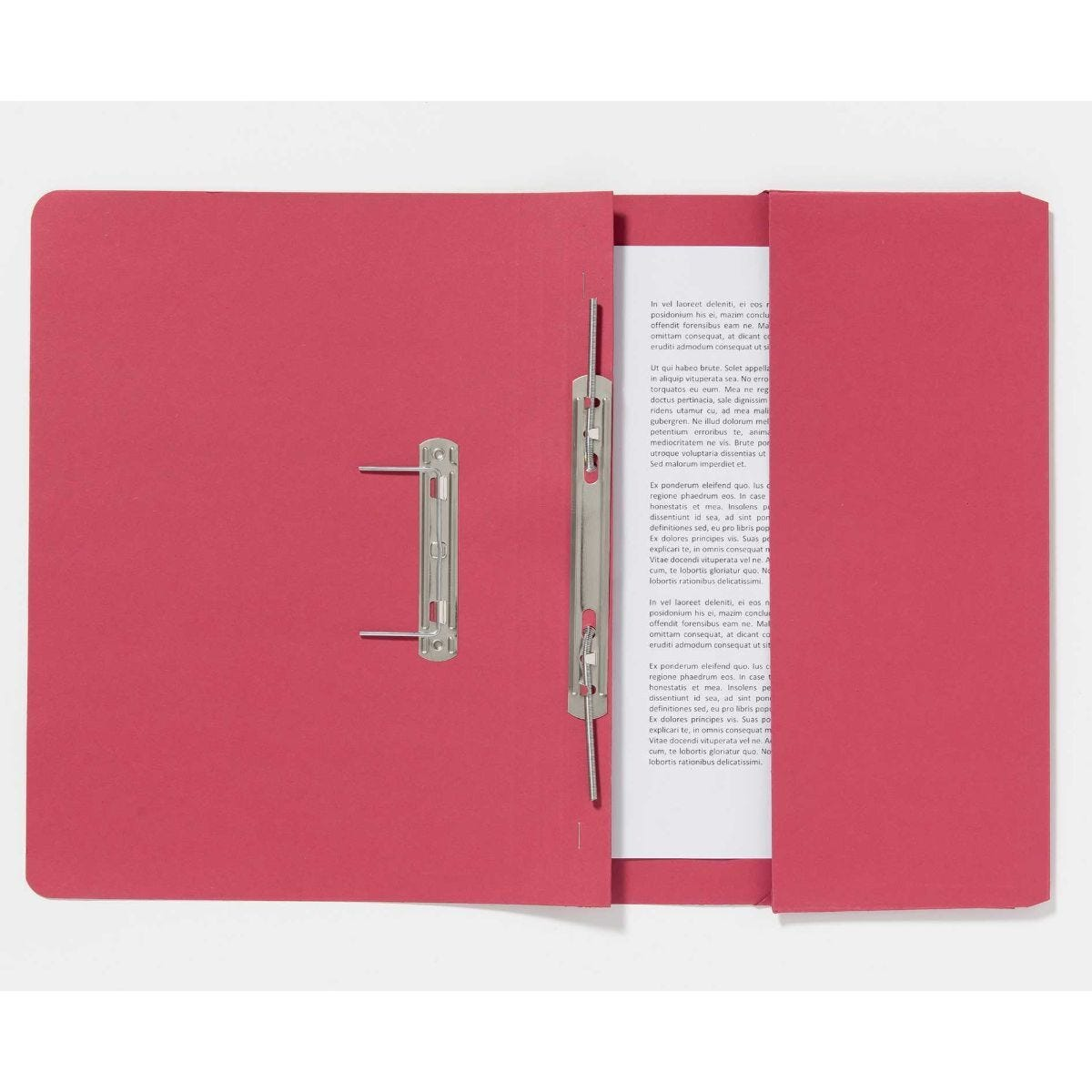 Guildhall Pocket Spiral Foolscap File 285gsm Pack of 25 Red