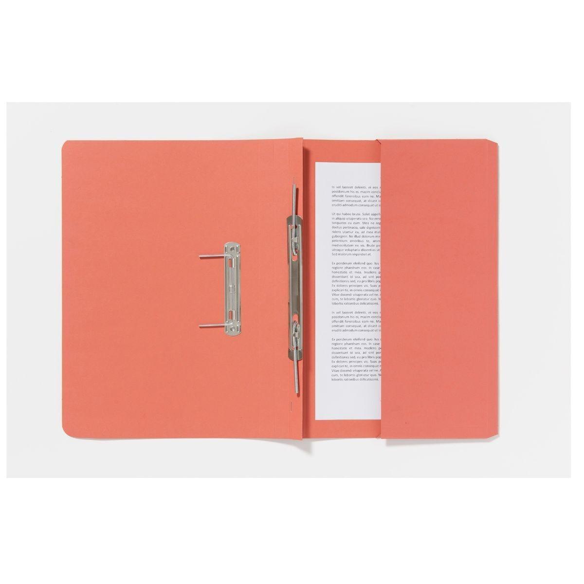 Guildhall Pocket Spiral Foolscap File 285gsm Pack of 25 Orange