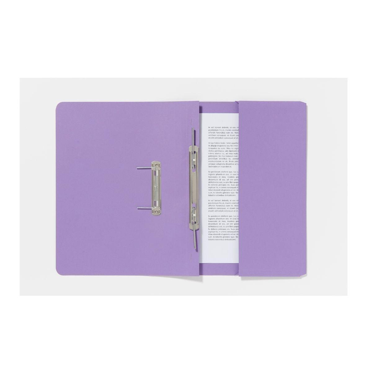 Guildhall Pocket Spiral Foolscap File 285gsm Pack of 25 Violet