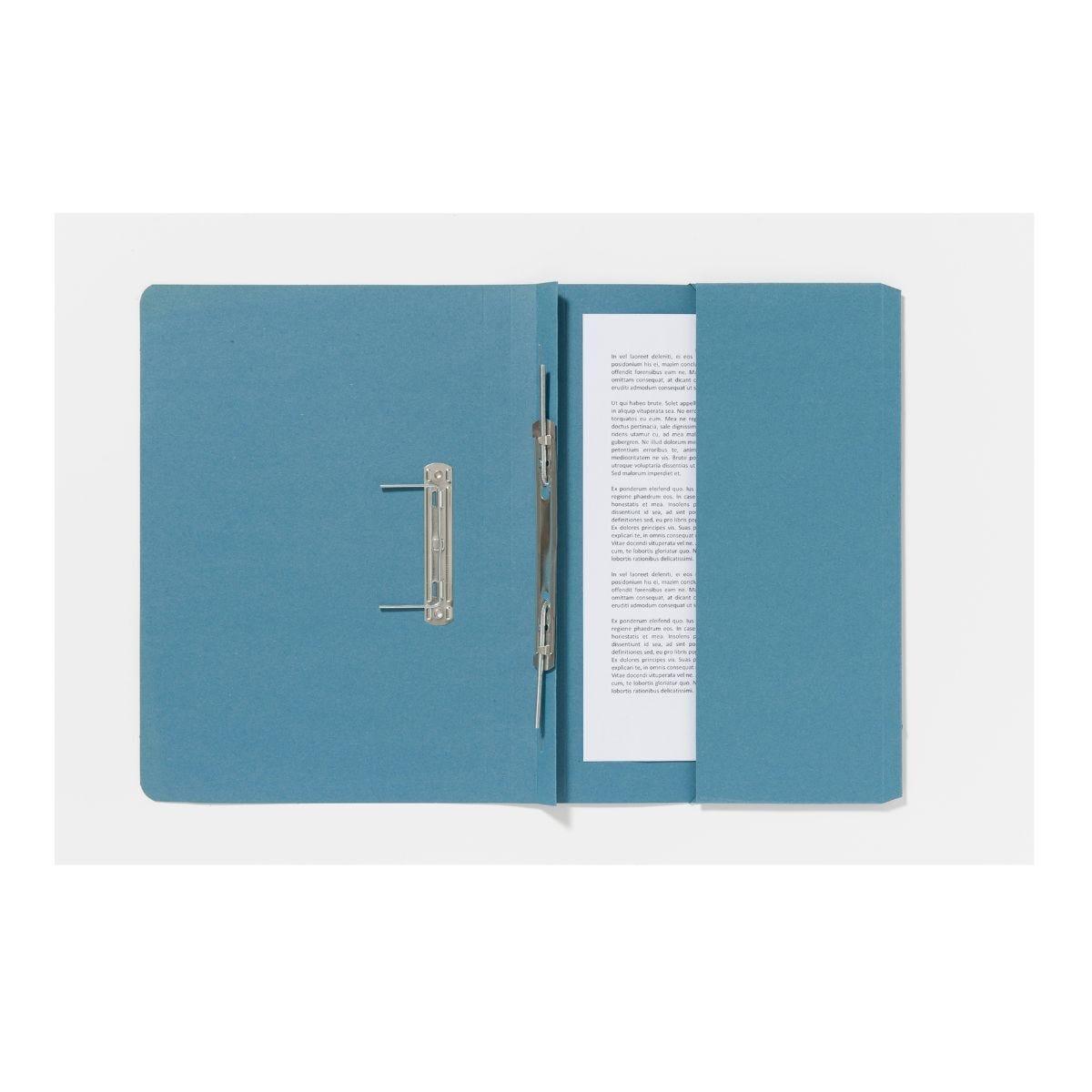 Guildhall Pocket Spiral Foolscap File 285gsm Pack of 25 Blue