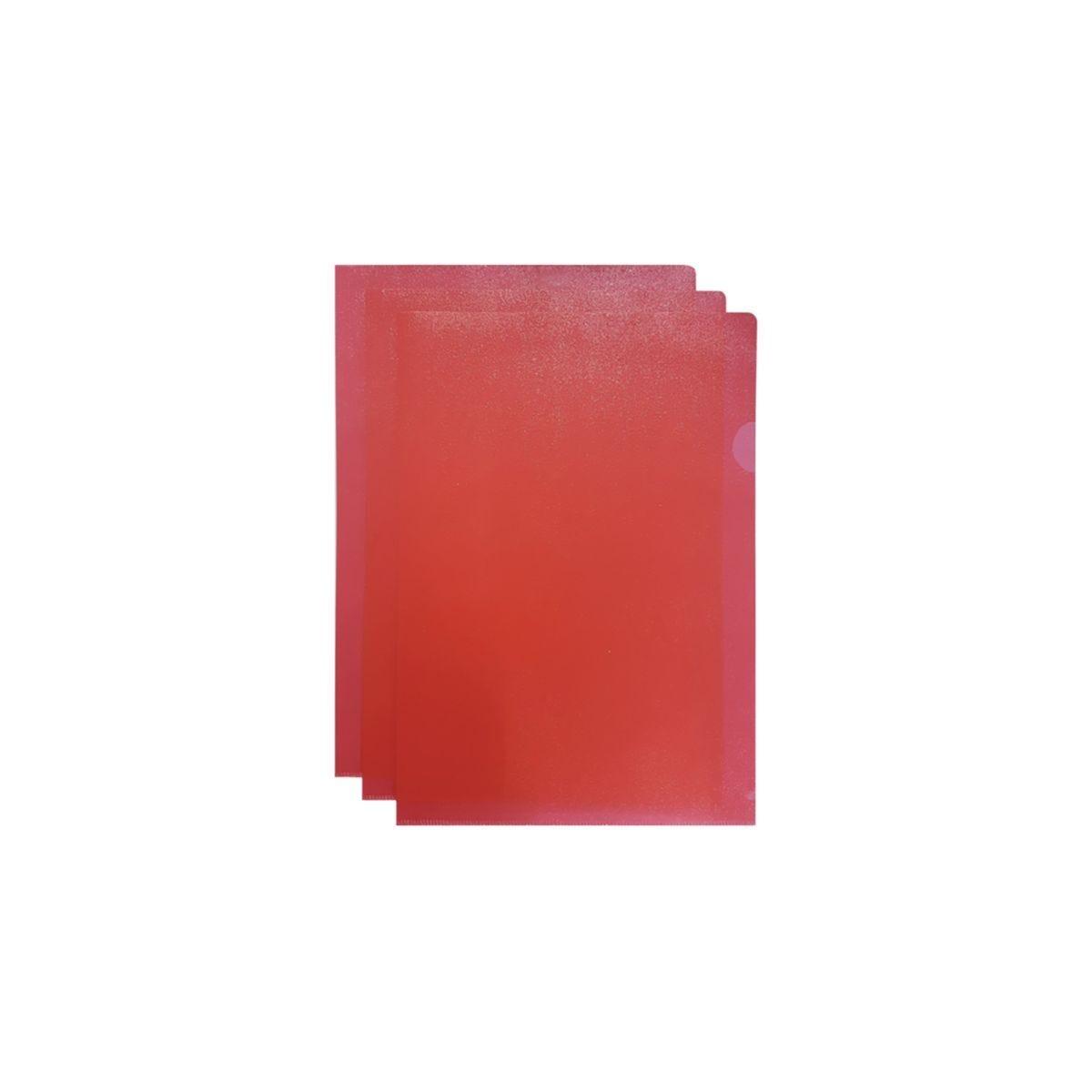 Q-Connect Cut Flush Folder A4 Pack 100 Red