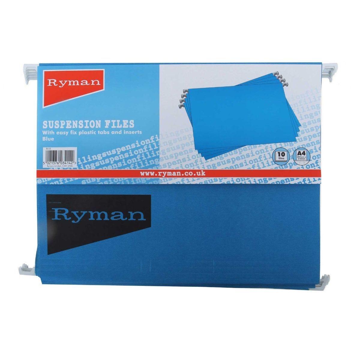 Ryman Suspension Files A4 Plastic Tab  Pack of 50