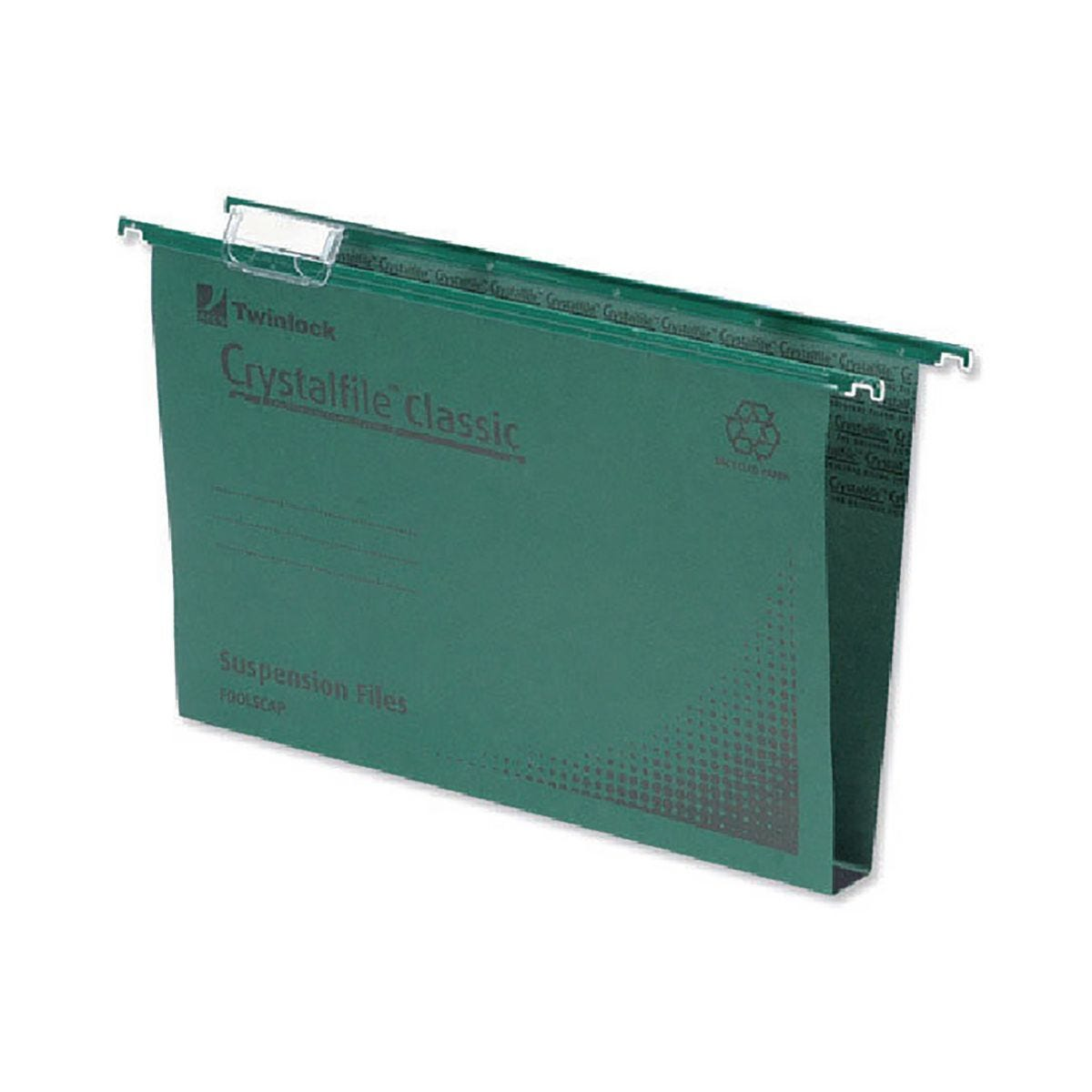 Rexel Crystalfile Classic Suspension File 50mm Green