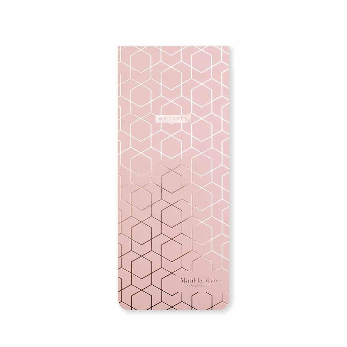 Matilda Myres Slim Magnetic Shopping List Light Pink