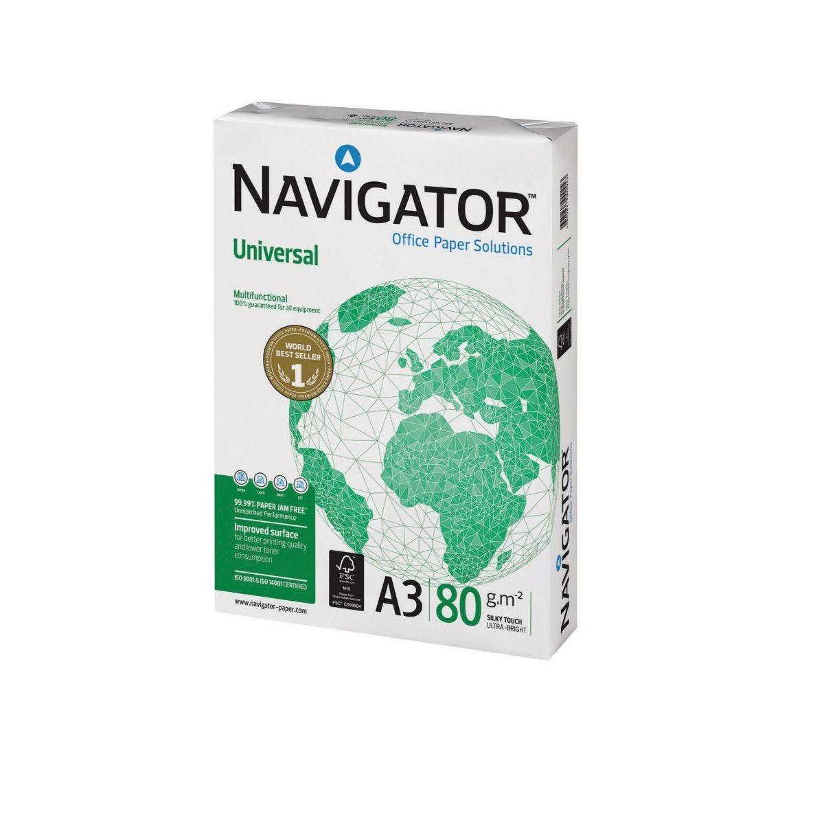 Navigator Universal Paper A3 80gsm 2500 Sheets 5 Reams