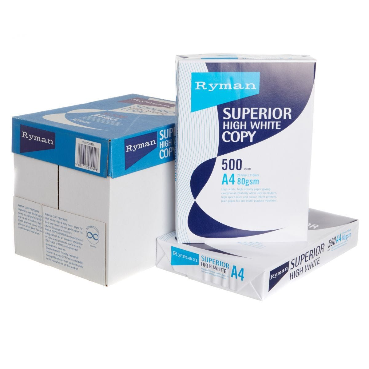 Ryman Superior Copy Paper A4 80gsm 500 Sheets Box of 5