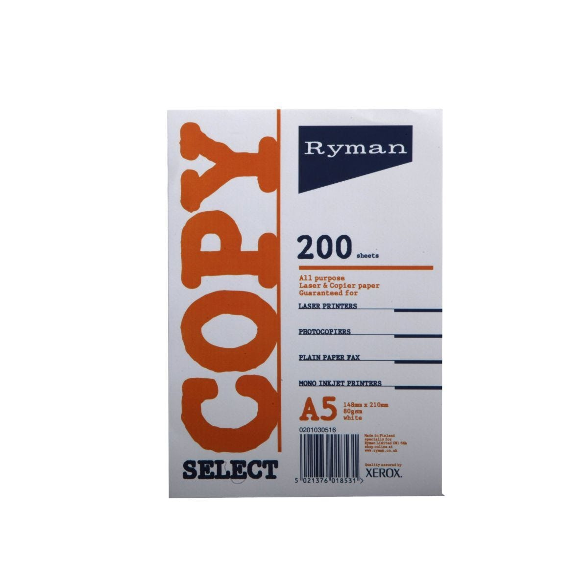 Ryman Select Copy Paper A5 80gsm 200 Sheets