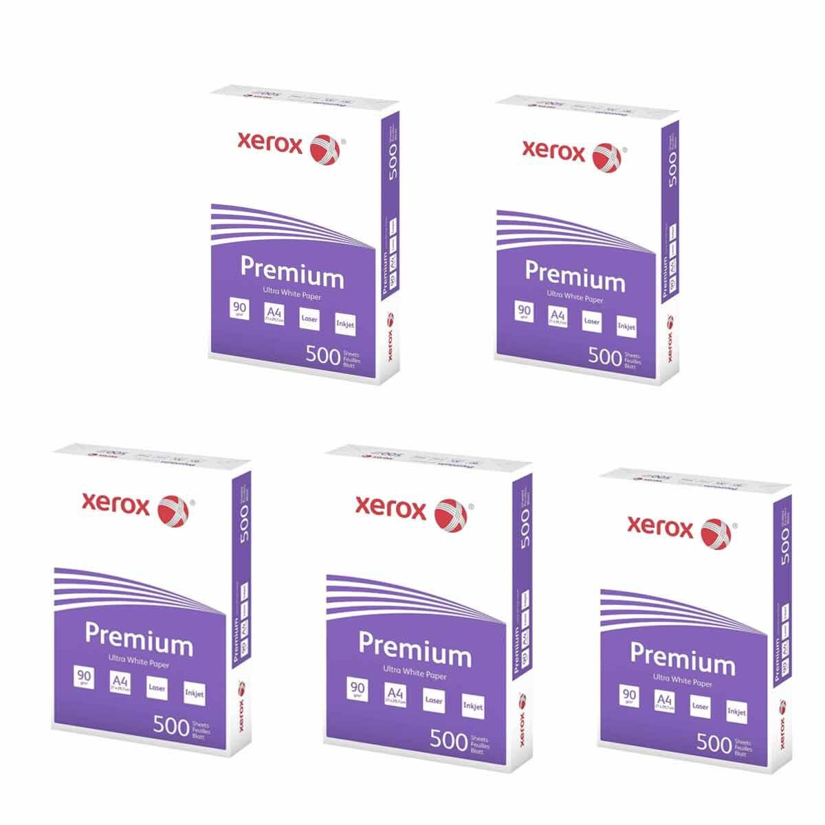 Xerox Premium A4 Paper 90gsm 500 Sheets Pack of 5