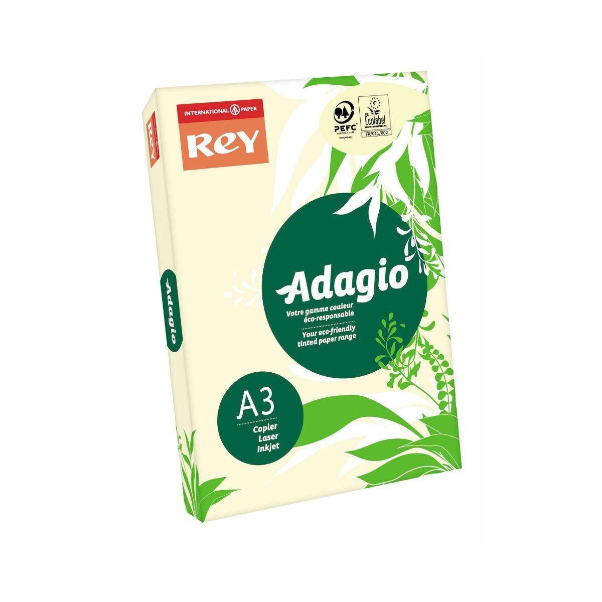 Adagio Copier Paper A3 80gsm Ream Ivory