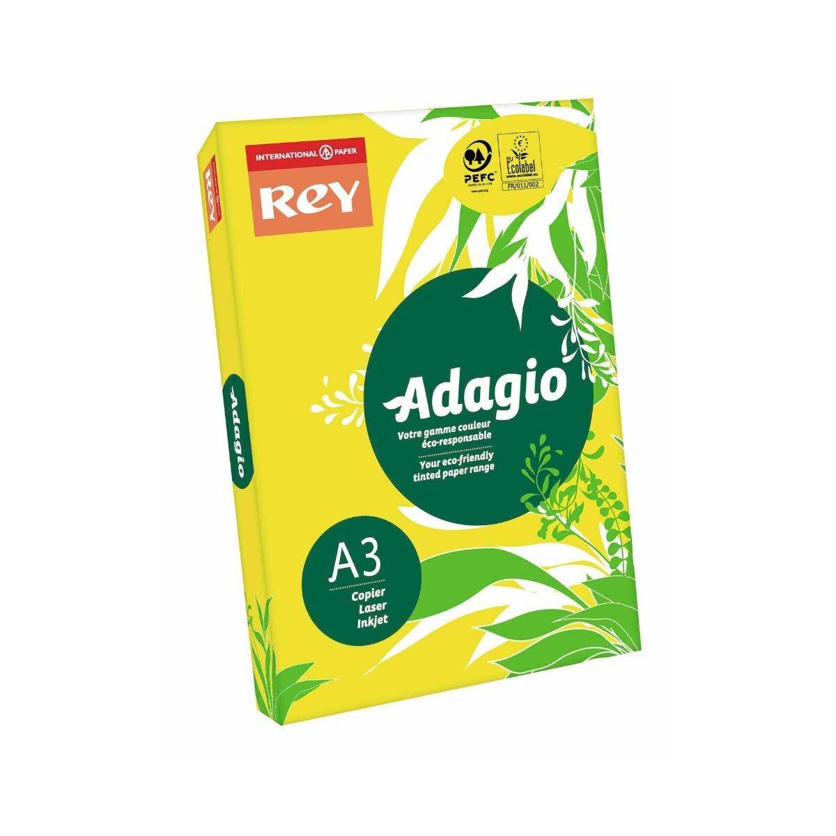 Adagio Copier Paper A3 80gsm Ream Yellow