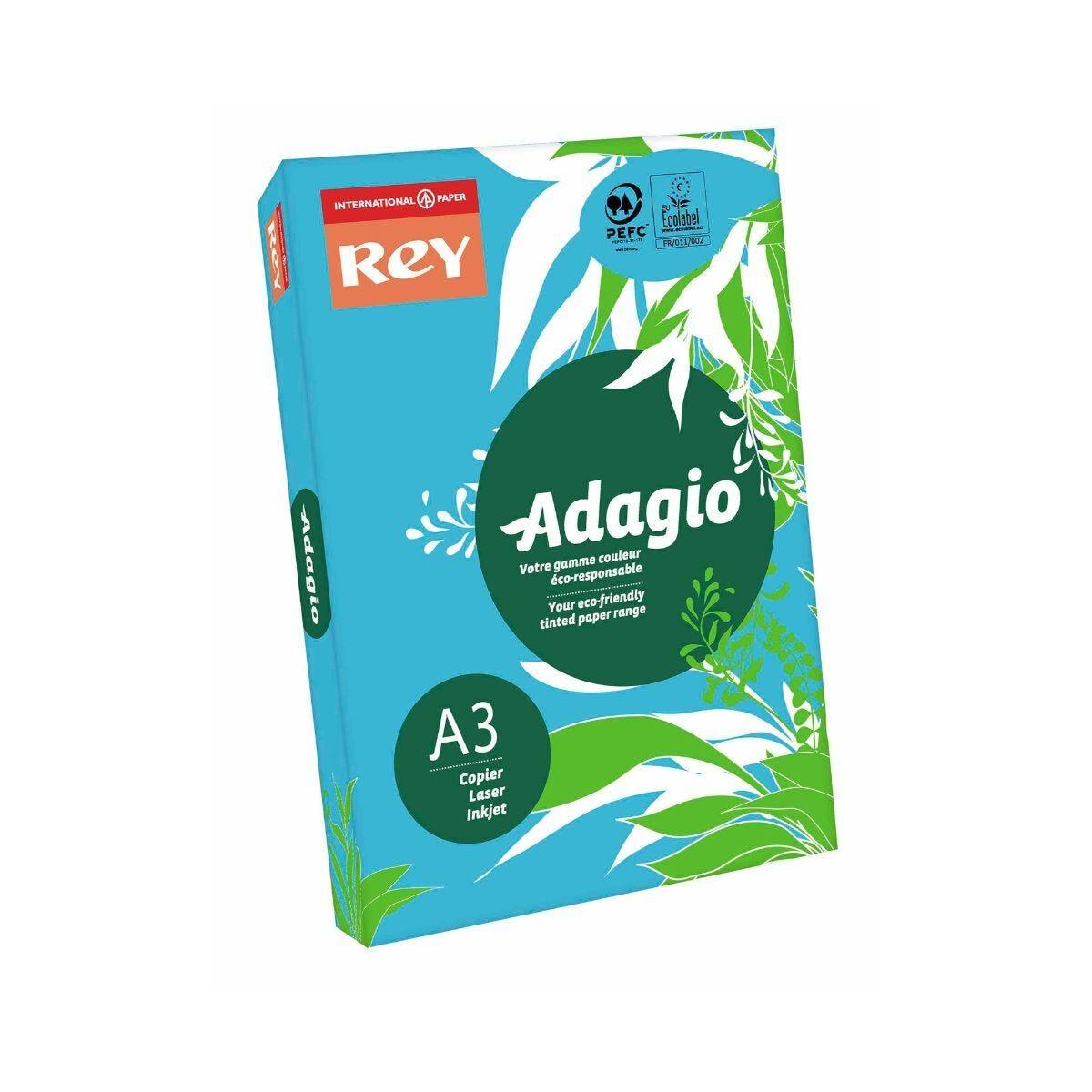 Adagio Copier Paper A3 80gsm Ream Deep Blue