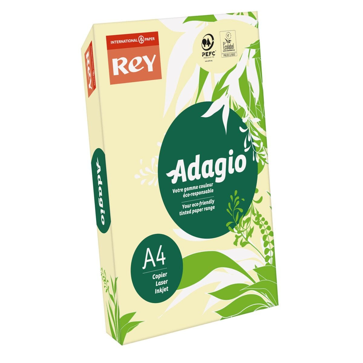 Rey Adagio Ream of Paper Pastel Coloured A4 80gsm 500 Sheets