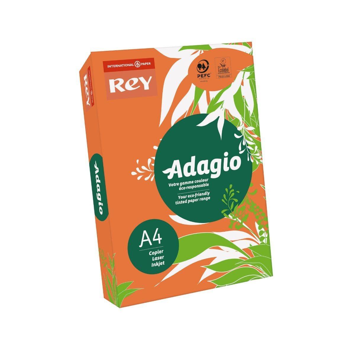 Adagio Colour Selection Card A4 160gsm 250 Sheets Orange
