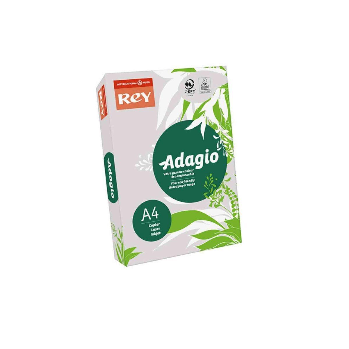 Adagio Colour Selection Card A4 160gsm 250 Sheets Grey