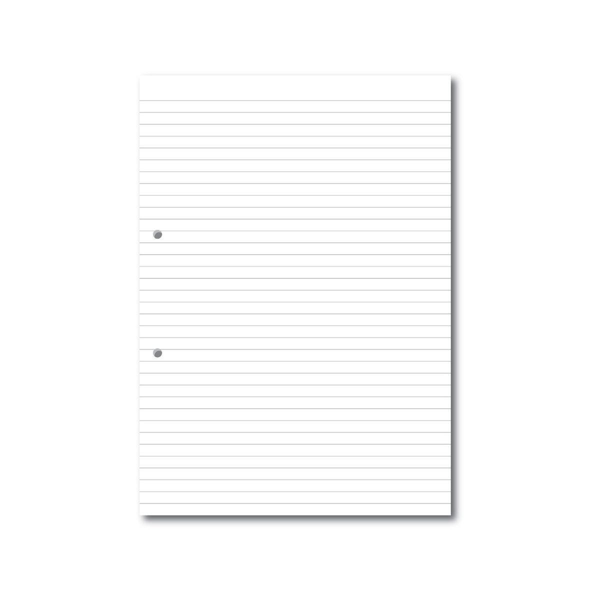 A4 Loose Leaf Paper 8mm Ruled 2 Hole Punched