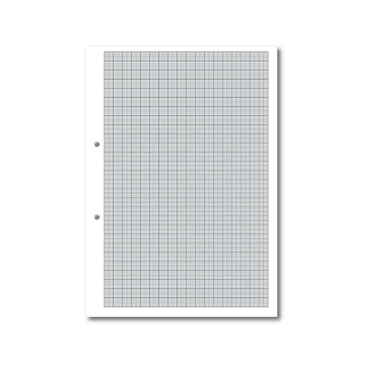 A4 Loose Leaf Paper Graph Ruled 1,5,10, 2 Hole Punched