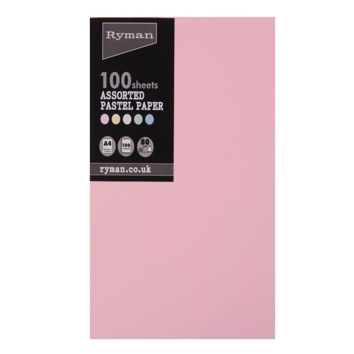Ryman Copy Paper Coloured A4 80gsm 100 Sheets