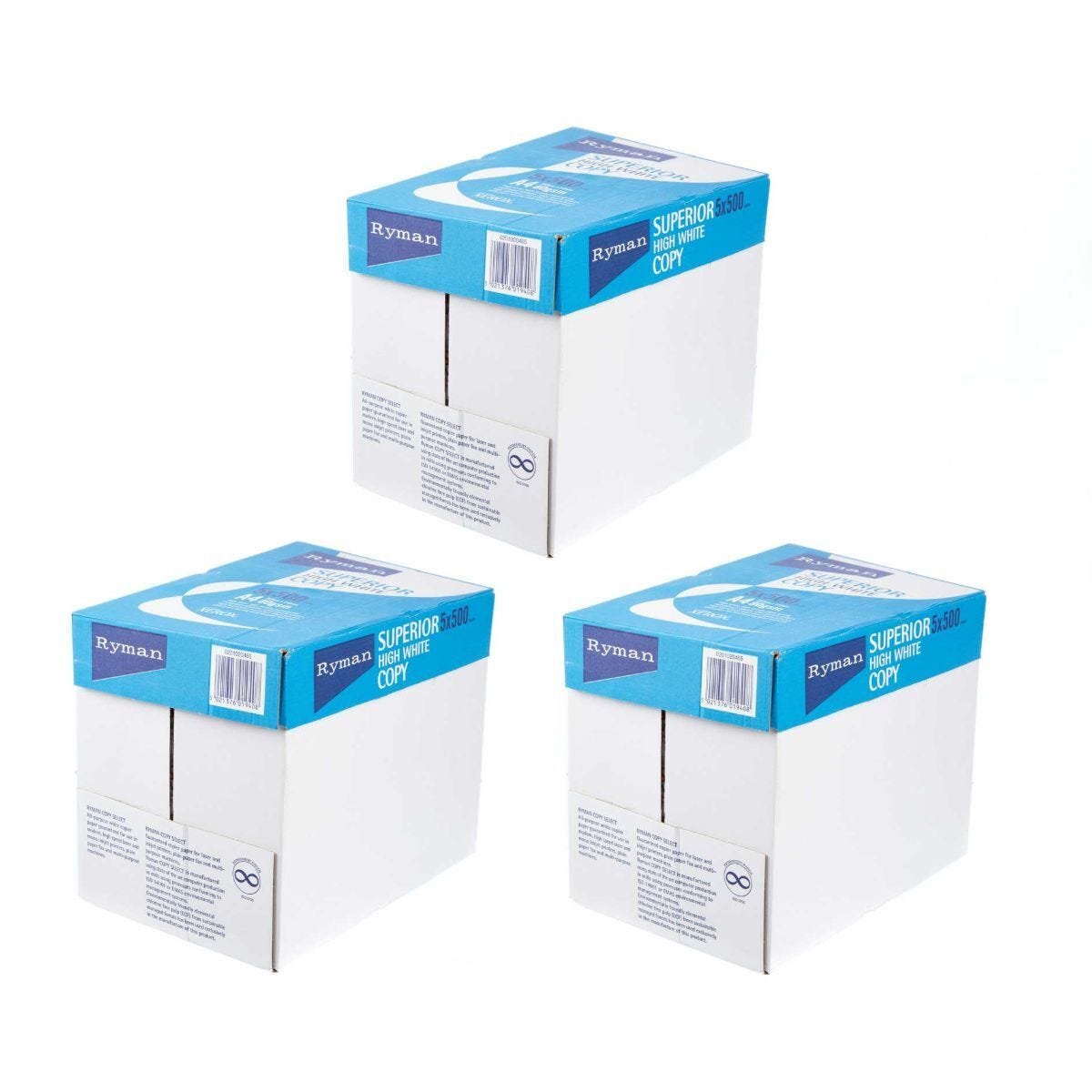Ryman Superior Copy Ream of Paper A4 80gsm 500 Sheets Pack of 15