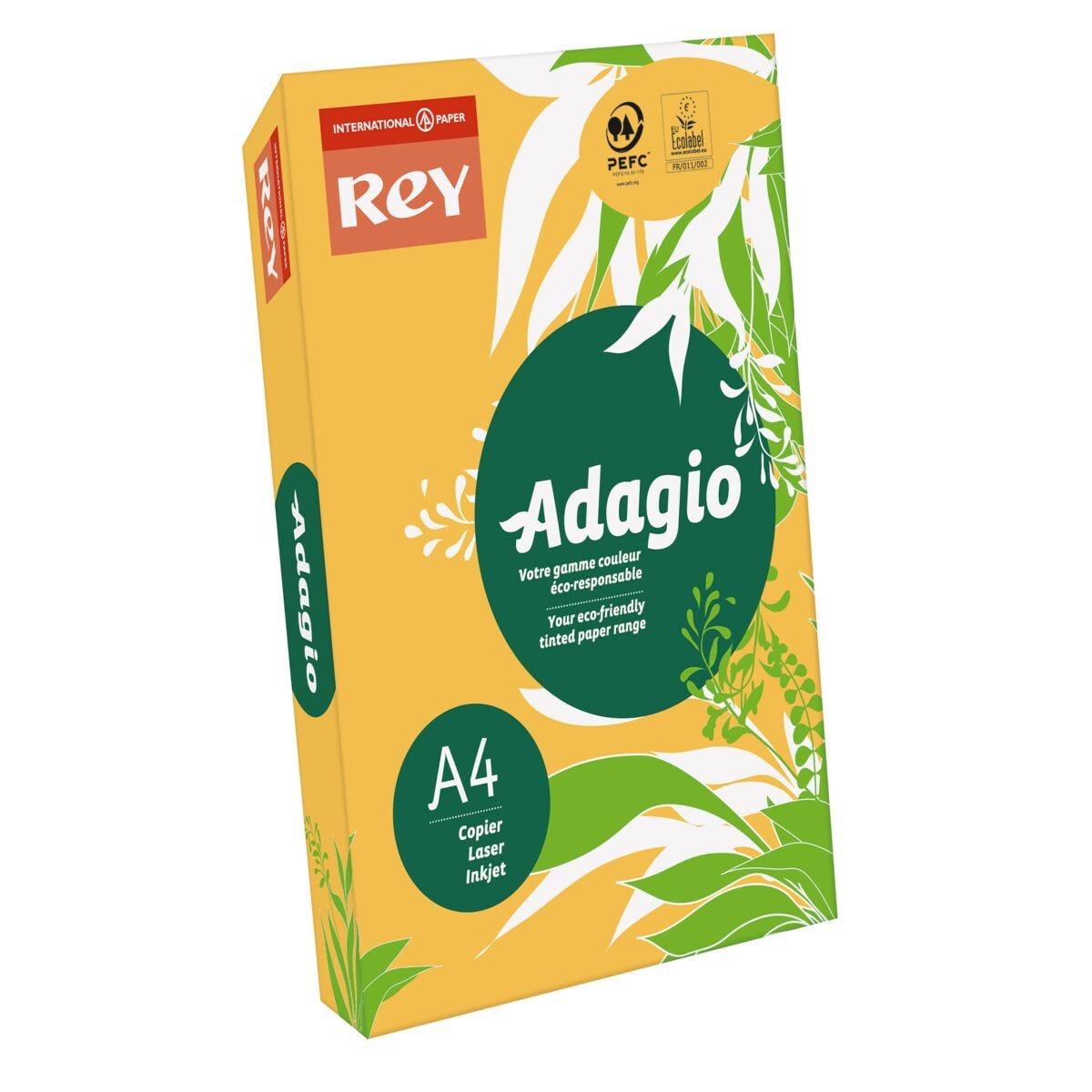 Adagio Ream of Bright Coloured Copier Paper A4 80gsm 500 Sheets