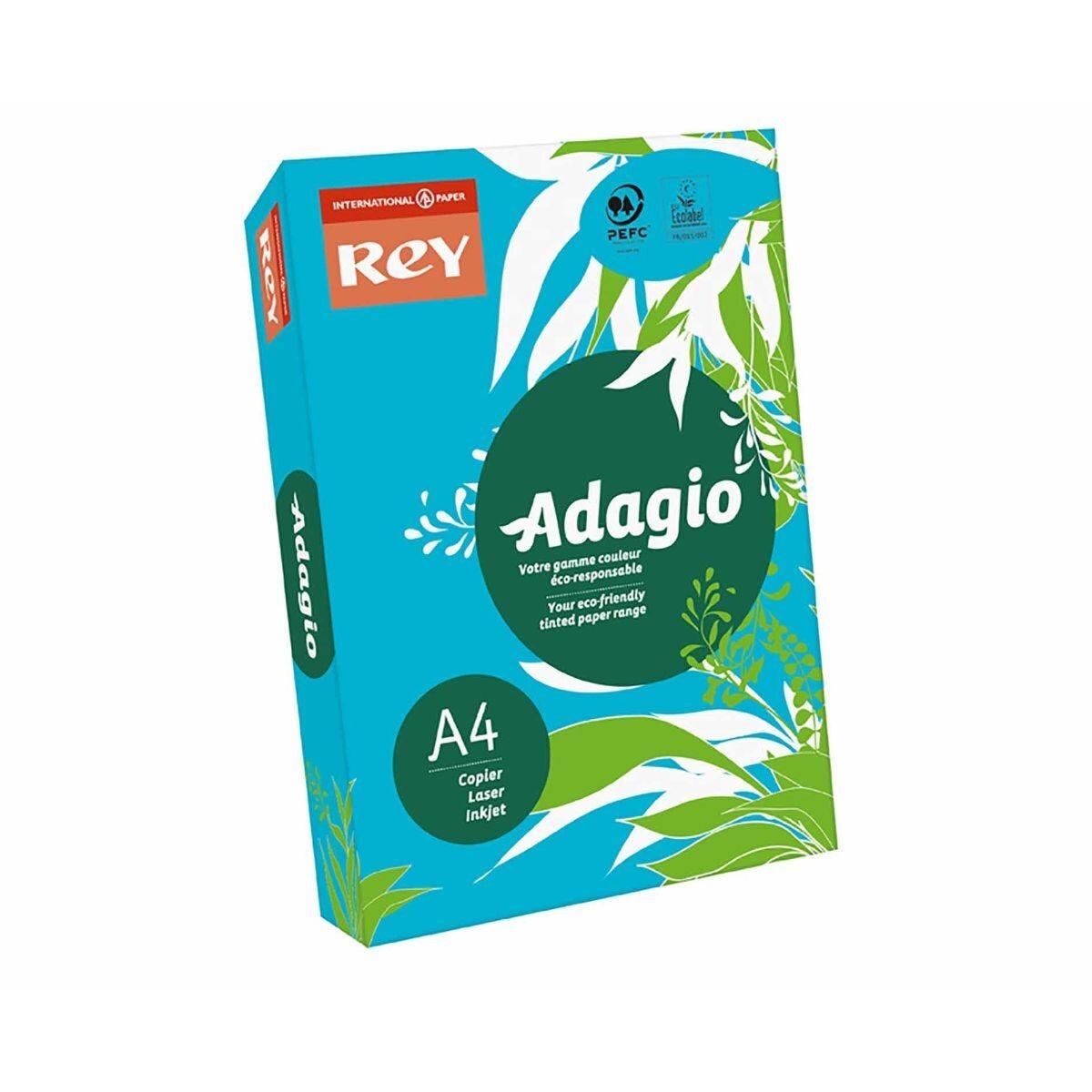 Adagio Ream of Bright Coloured Copier Paper A4 80gsm 500 Sheets Deep Blue