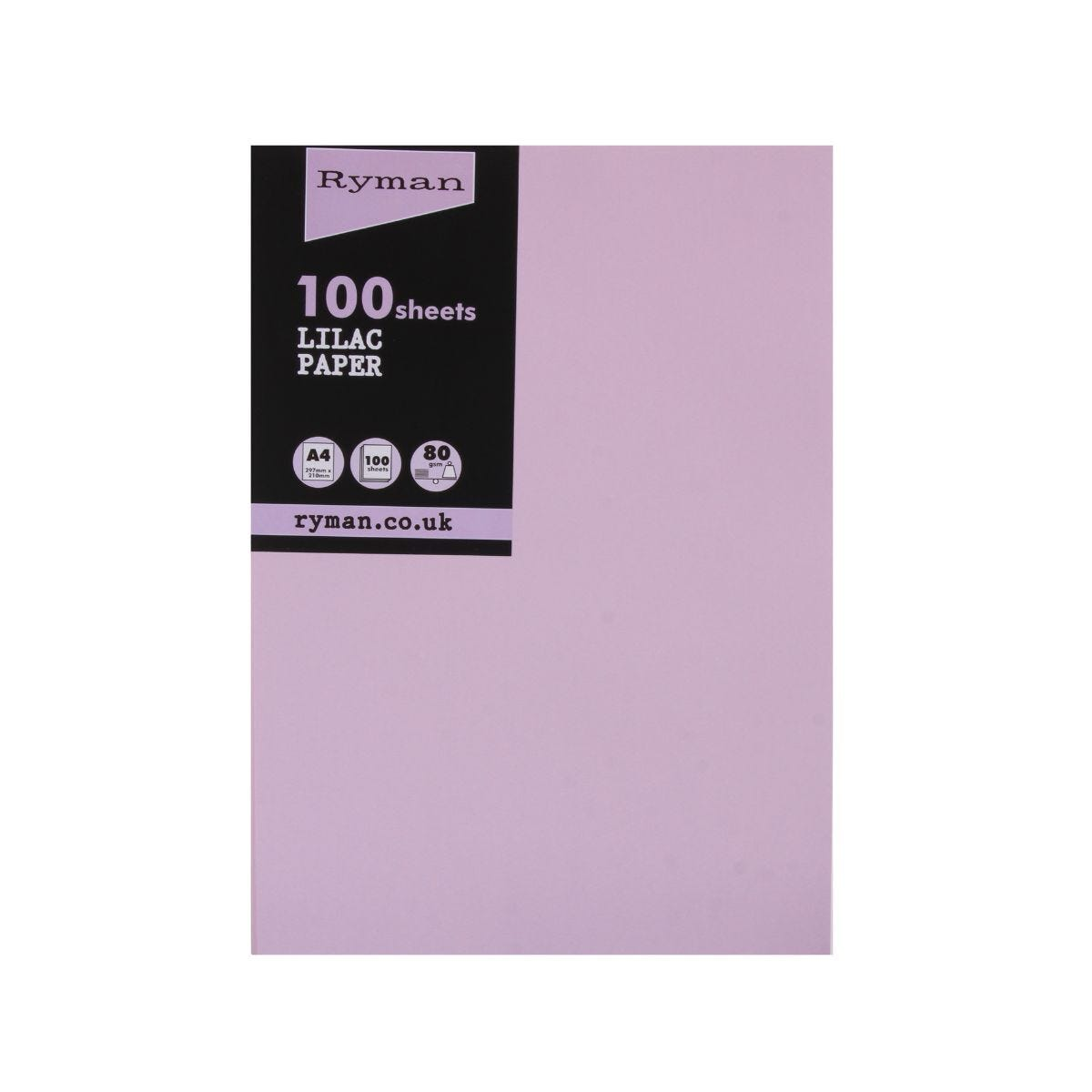 Ryman Adagio Copier Paper A4 80gsm Pack of 100 Lilac