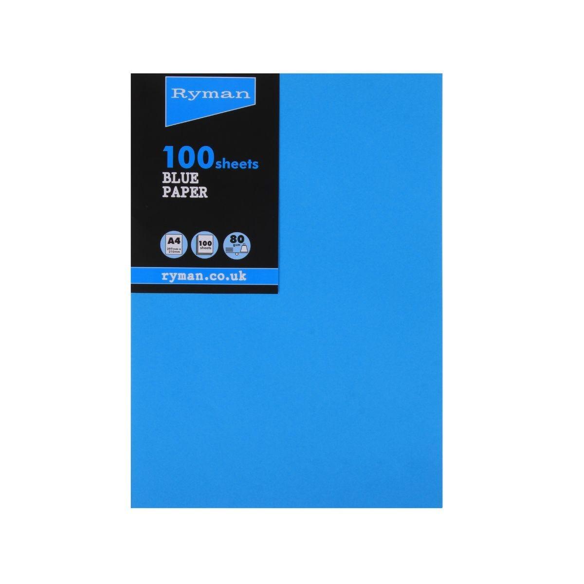 Ryman Adagio Copier Paper A4 80gsm Pack of 100 Deep Blue