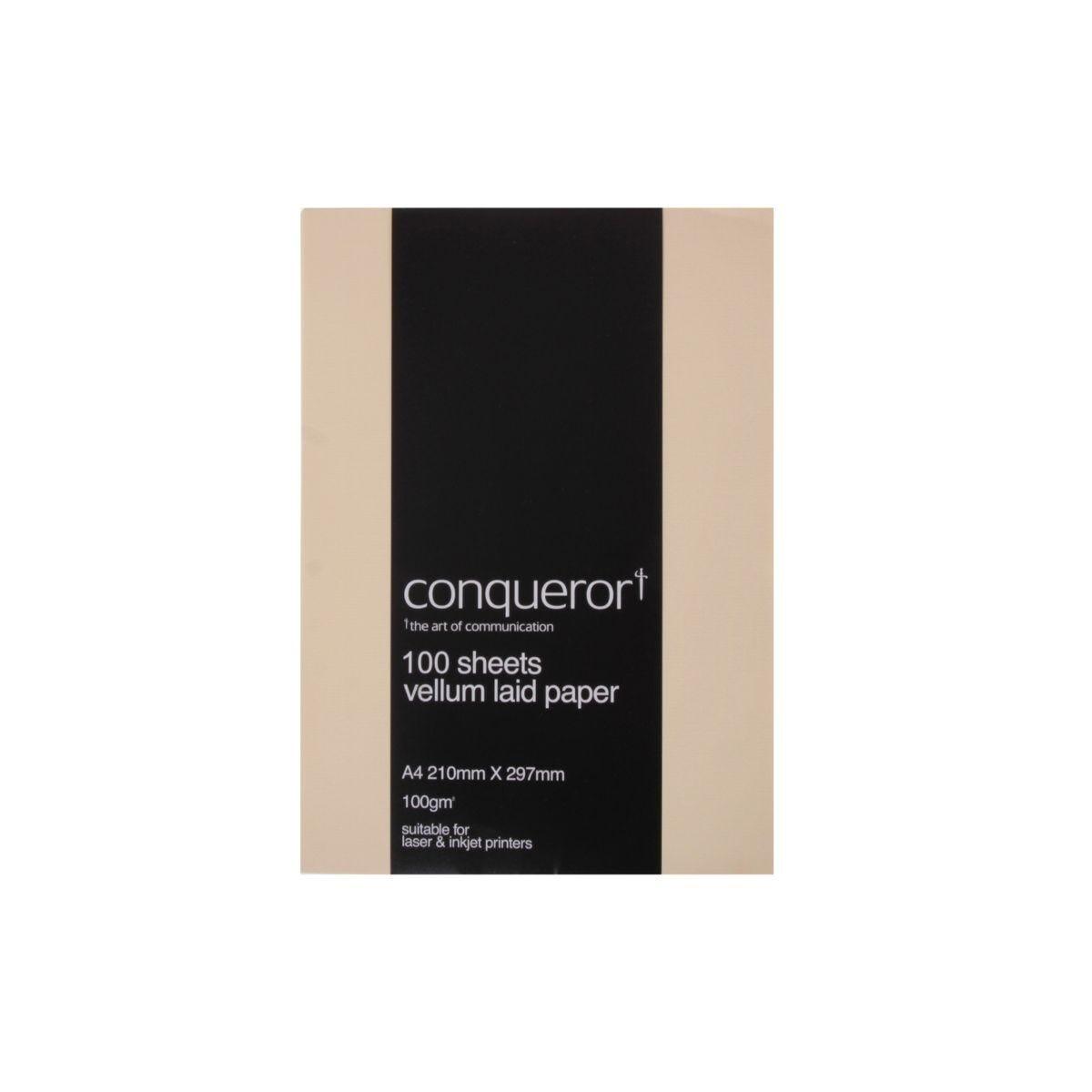 Conqueror Paper A4 100gsm Pack 100 Vellum