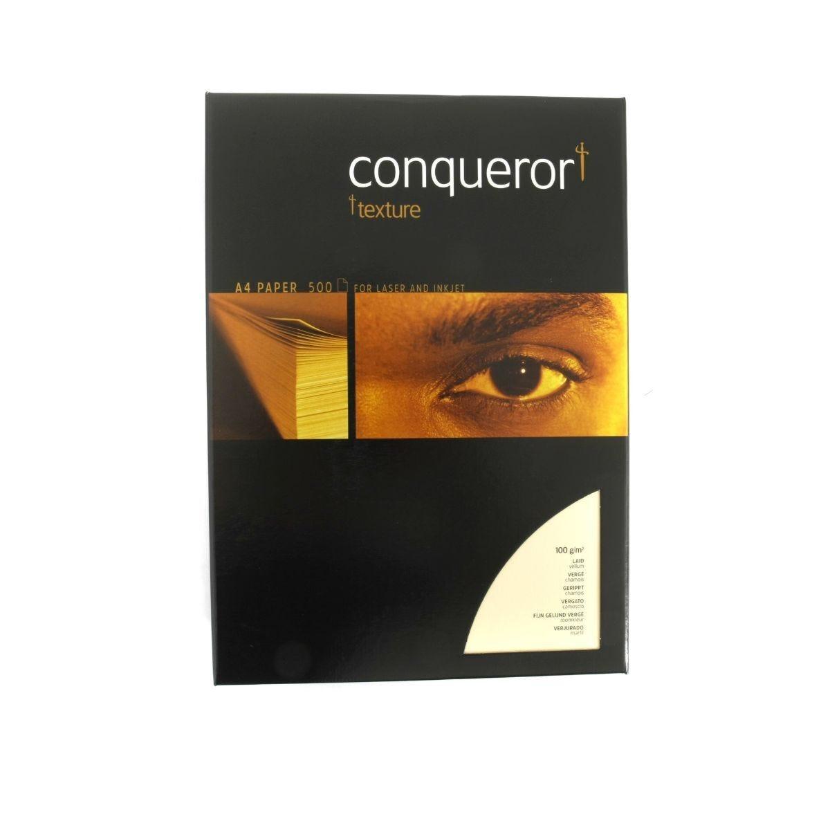 Conqueror Laid Textured Ream of Paper A4 100gsm 500 Sheets Vellum