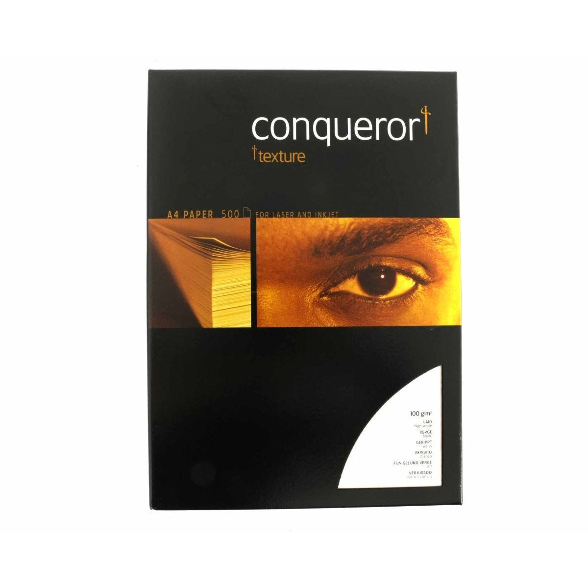 Conqueror Laid Textured Ream of Paper A4 100gsm 500 Sheets High White