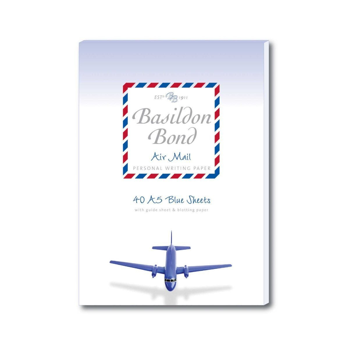 Basildon Bond Airmail Writing Pad A5 70gsm 80 Pages 40 Sheets Blue