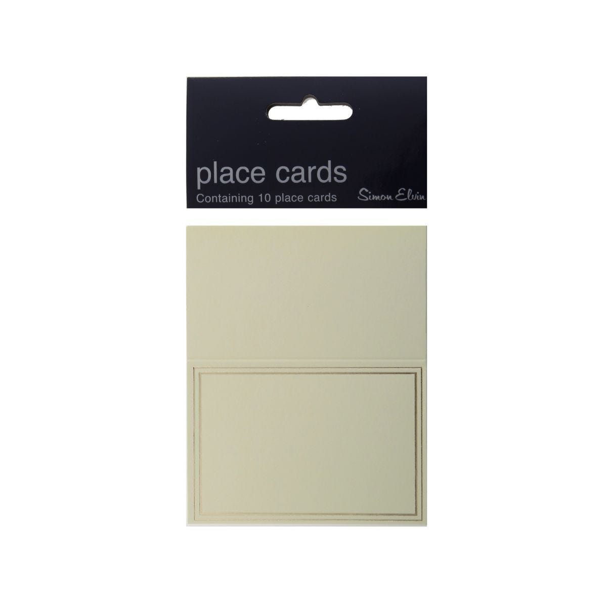 Simon Elvin Cream Place Cards with Gold Border Pack of 10