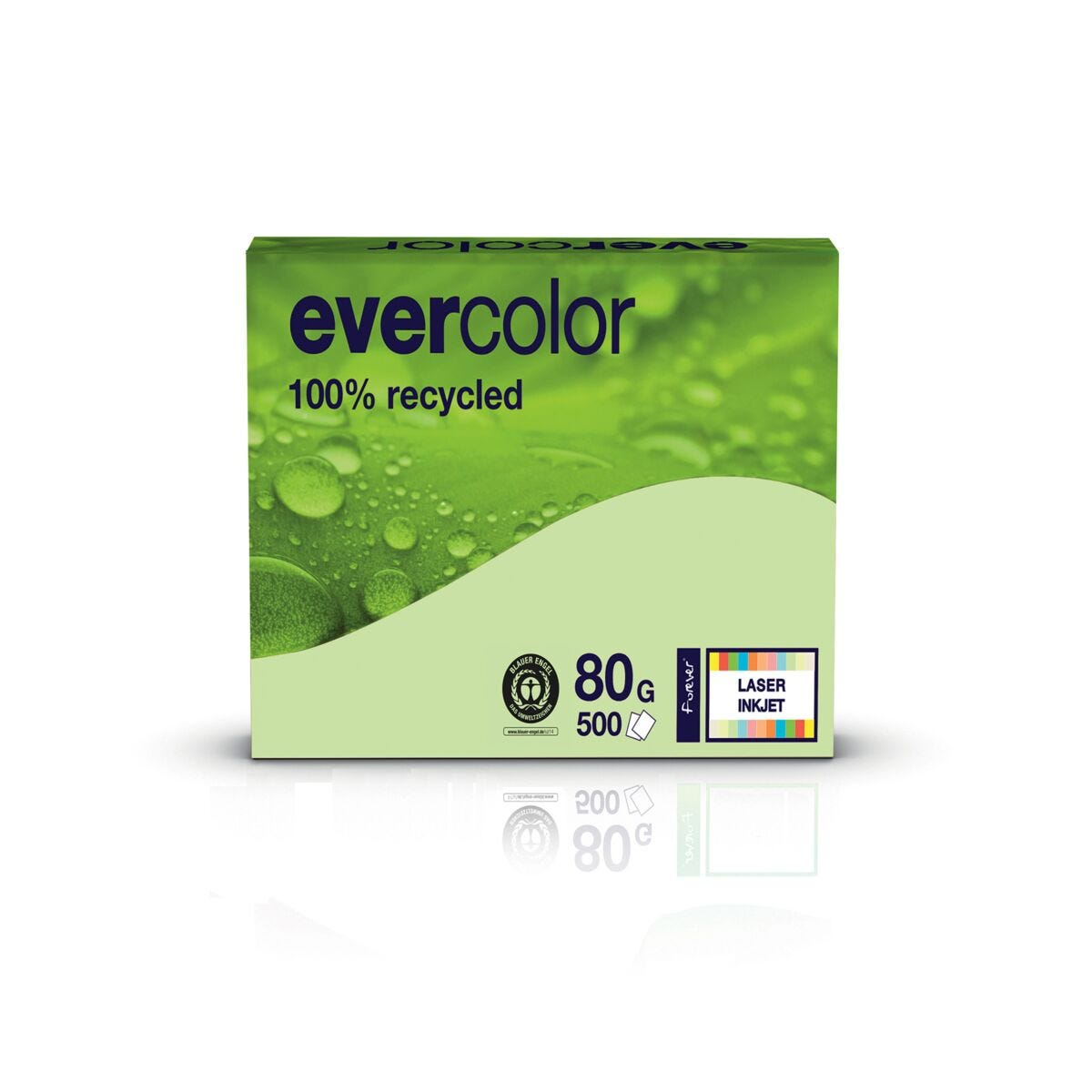 Evercolor A4 80gsm Box of 5 Reams Green
