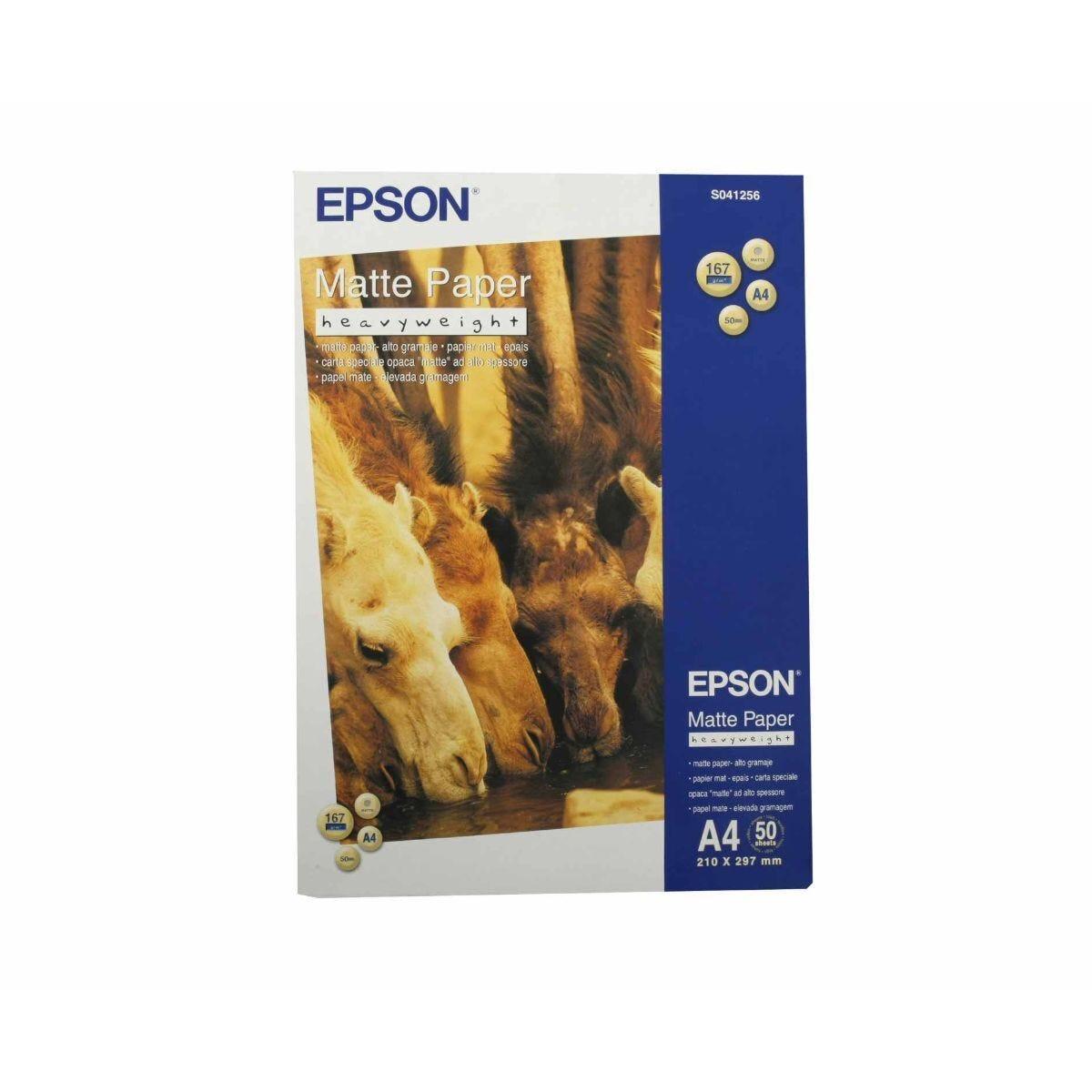Epson Photo Inkjet Paper A4 Matt 167gsm Heavyweight 50 Sheets