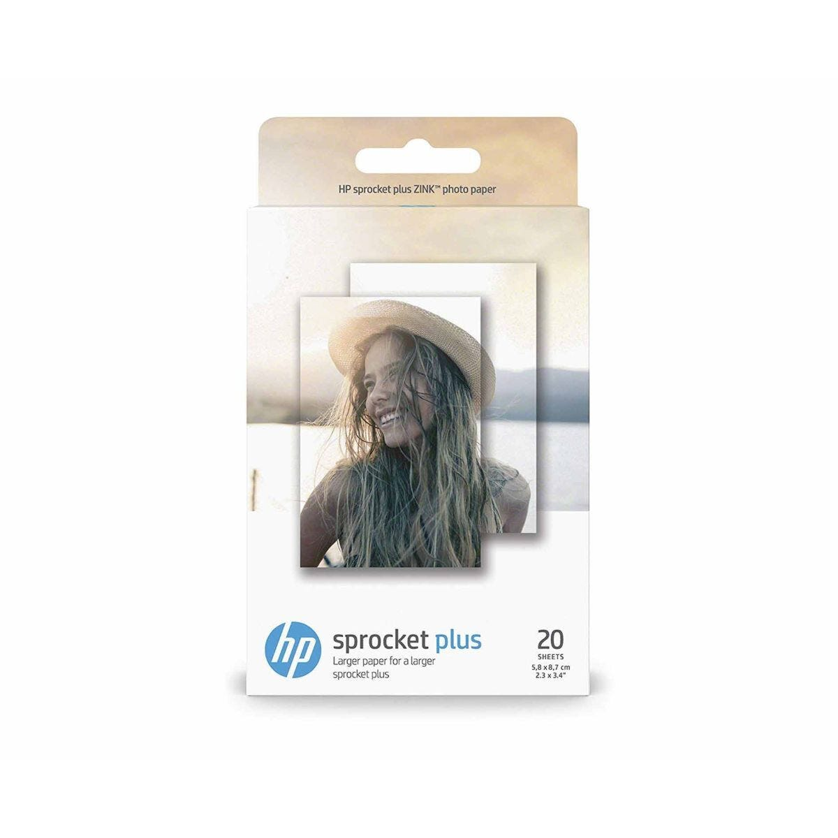HP Sprocket Plus Photo Paper 2.3x3.4 Pack of 20